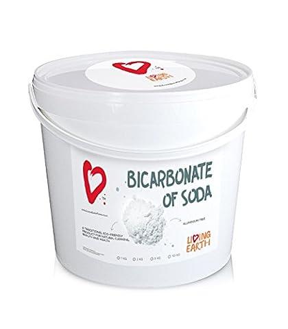 10kg - Living Earth – Bicarbonate de soude – Seau de 10kg – Suppose une alternative excellente pour le nettoyage quotidien et soin corporel. Nettoyage ÉCOLOGIQUE, SANS SUBSTANCES TOXIQUES ET ÉCONOMIQUE.