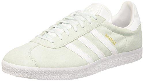adidas Gazelle, Sneakers basses mixte adulte Grigio chiaro (Ice Mint/White/Gold Metallic)