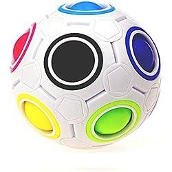 Rawdah 2017 Pop arco iris bola mágica plástico cubo Twist rompecabezas juguetes para juguetes educativos de los niños Adolescentes Adulto alivio de estrés