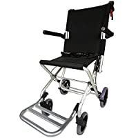 Transit Chair Lightweight and foldable | Model Neptune | Height 93.5 cm | Easy Operation | Seat and Backrest Ergonomic | Aluminium | Maximum Weight Supported 100 kg