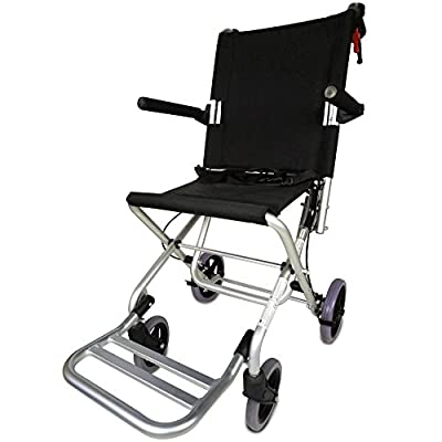 Transit Chair Lightweight and foldable | Model Neptune | Height 93.5cm | Easy Operation | Seat and Backrest Ergonomic | Aluminium | Maximum Weight Supported 100kg