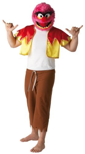 Die Muppet Show Tier Drummer Kostüm für Erwachsene Karneval Verkleidung Standard Standard (Tier Kostüm Muppet)