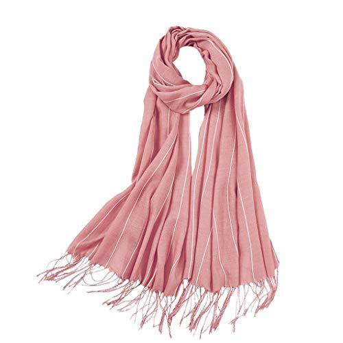 ➤Refill➤ Schal Damen Warm Herbst unifarben Baumwolle mit Quasten/fransen, Farben Einfarbig & Kariert Pashmina Schals