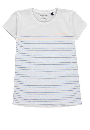 Marc O' Polo Kids Mädchen 1/4 Arm T-Shirt, Rosa (Marina|Blue 3056), 158 (Herstellergröße: 158/164) - Mädchen Rosa Armee T-shirt