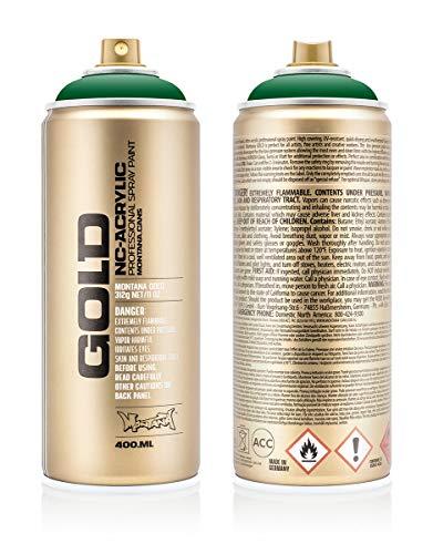 Montana Cans 285080 Montana Spray Dose Gold 400ml, Gld400-6060-Fern Green