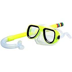 WEIHUIMEI 2 pcs/lot Dry Top Tuba Masque de plongée à soupape de Purge avec Tuba pour les enfants plongée avec Tuba, Jaune, 2
