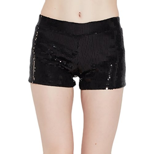 Shorts Mujer Elegantes Vintage Lentejuelas Metálicas Especial Hipster Moda  Pantalon Corto Pantalón Corto Pantalones Cortos Para 6aa6efa8e46