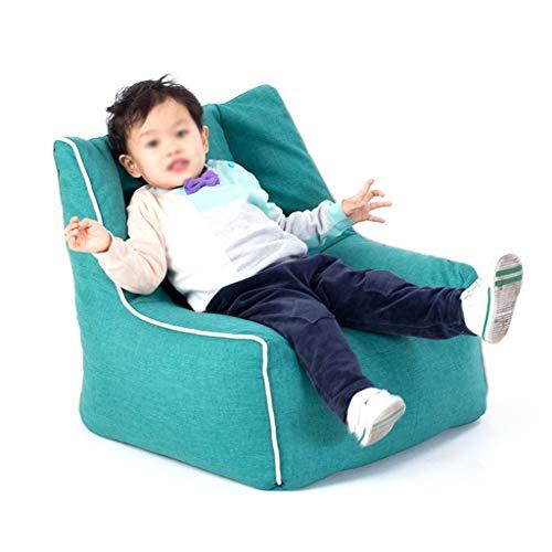 Fauteuils Canapé Vert Mou De Sofa d'enfants pour des Garçons, Chaise Arrière Élevée De Mousse De Meubles De Bambin De Salon d'enfants
