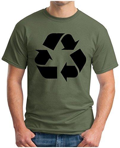 OM3 - BIG BANG - RECYCLE - T-Shirt Recycling Logo Leonard, S - 5XL Oliv