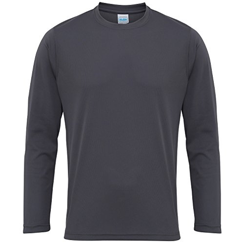 Graphit Langarm-shirt (Just Cool Herren T-Shirt Langarm Cool Performance L,Graphit)