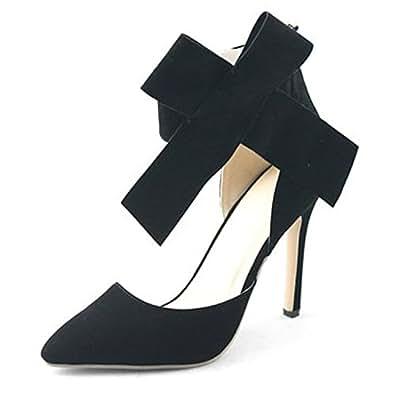SAGUARO® Donna Tacco Alto Stiletto Piattaforma Grande Arco Sandalo Strap Scarpe Punta Con Tacco