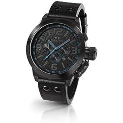 TW Steel TW-904 - Reloj cronógrafo de cuarzo para mujer con correa de piel, color negro