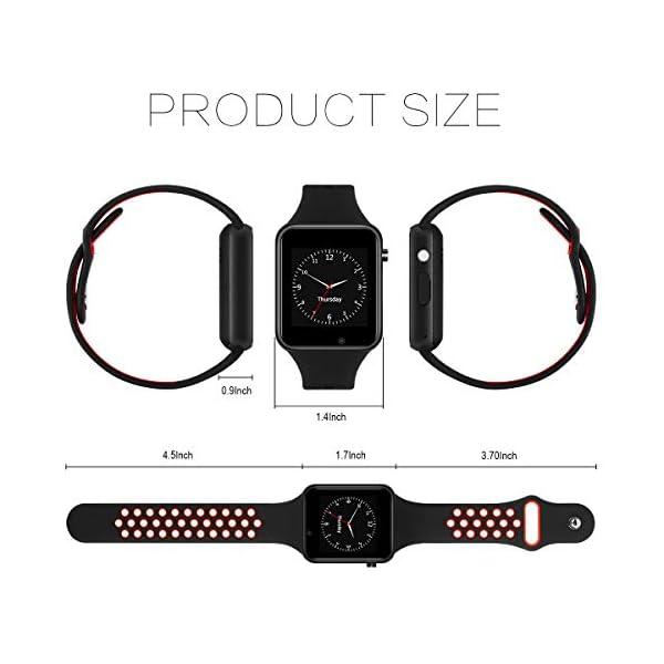 Dr.Haer Reloj Inteligente, M3 Smartwatch Bluetooth Deporte Fitness Tracker con Monitor de Pulso Cardiaco,Rastreador de Ejercicios para iOS, Android Phones,etc 4