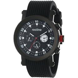 Red Line-rl-18101-01-bb-Herrenuhr-Quarz-Chronograph-Armband Gummi schwarz