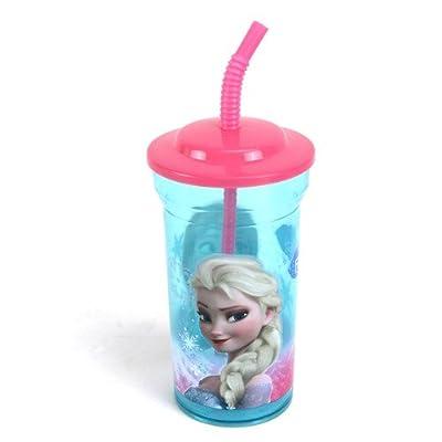Disney 55808–Frozen–Vaso con Pajita, Multicolor por Disney