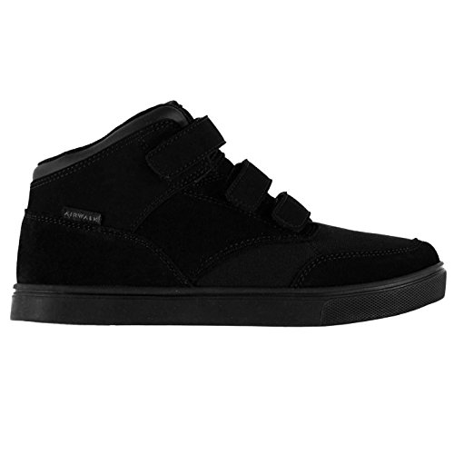 Airwalk Breaker Mid Kinder Jungen Skate Schuhe Turnschuhe Sneaker Bahnendesign Schwarz 2 (34) (Schuhe Skate Mid 2)