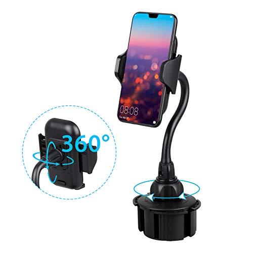 EEEKit Car Cup Holder Telefonhalterung, Verstellbarer Schwanenhals 360 ° Autohalterung für iPhone XS/XS Max/XR/X/8 Plus/7/6s/6 Plus, Samsung Galaxy S10/S10+/S9/S9+/S8/S7 Note -