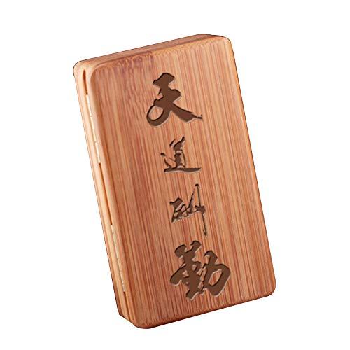 Oli Zigarettenetui - 20 Stäbchen, Personalisierte Handgefertigte Zigarettenetui - Magnet Flip, Ultradünne Bambus Und Holz Zigarettenetui - Geschenkideen,G,11.5 * 6.6 * 2