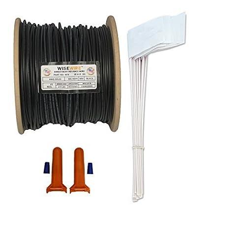 Wisewire Boundary Wire Kit WW-K-P/16 Gauge/500' / 50 Flags by PSUSA