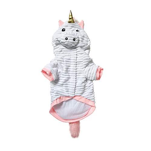 Einhorn Katze Kostüm - Zonfer Halloween Pet Kostüme Lustige Einhorn Kostüm Hoodie Coats Haustiere Jumpsuits Für Katzen Hunde Größe S