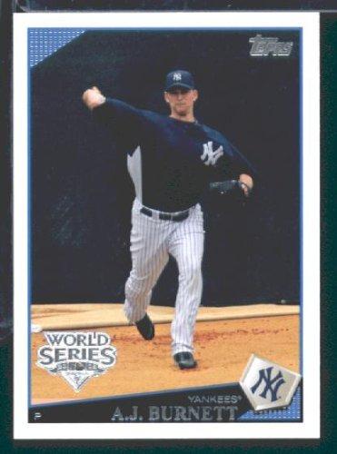 2009-topps-new-york-yankees-world-champions-baseball-card-nyy8-aj-burnett-mint-condition