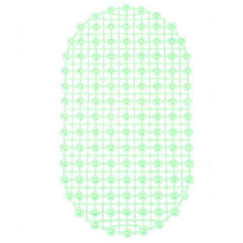 OKBY Duschmatte - Badewanne Pad für Zuhause Badezimmer PVC Saugnapf aushöhlen Anti-Rutsch-Dusche Bodenmatte (Farbe : Grün)