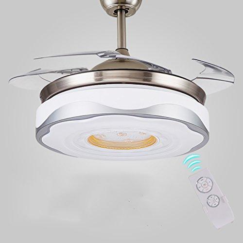 Unsichtbare Deckenventilatoren LED Mit Lampe, Fan-Lichter 42Inch Fernsteuerungsleuchter Mit Ventilator Für Wohnzimmer Und Restaurant,Whitelight,Remote (Deckenventilator Schattierungen)