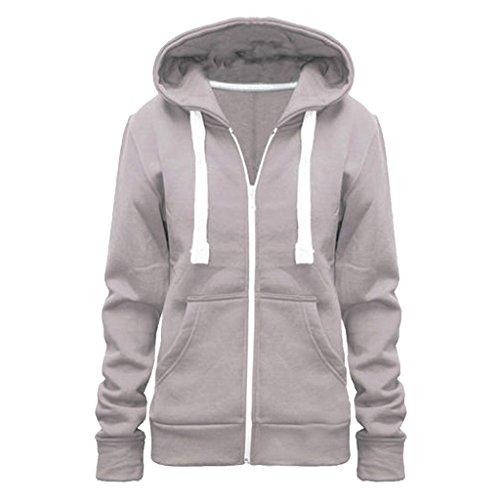 Vanilla - Sweat à capuche spécial grossesse - Femme couleur silver
