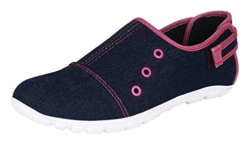 Tryfeet Women's Blue Canvas Sneakers - 37 EU