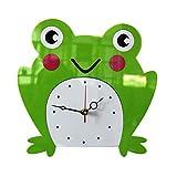 VORCOOL Frosch Wanduhr Tier Wanduhr Acryl für Kinderzimmer Babyzimmer