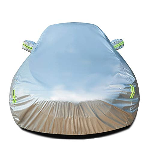 Autoabdeckung Kompatibel mit Acura MDX Indoor/Outdoor Allwetter-Schutz Auto-Schutzfolie Wasserdicht Komplette Außenabdeckungen UV-Sonnenschutz Wärmeschutz Kratzfest 100% Schutz Auto Silbergrau Autoa (Mdx Acura)