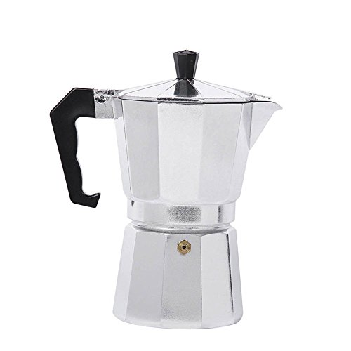 Majome Moka Kaffeekanne Espressomaschine Aluminium Herdplatte Durable für Home Office Küche