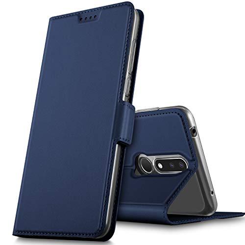 GeeMai für Nokia 3.1 Plus Hülle, Hülle Flip Case Wallet Stylish mit Standfunktion & Magnetisch PUtasche Schutzhülle handyhüllen passt für Nokia 3.1 Plus Smartphone, Blau