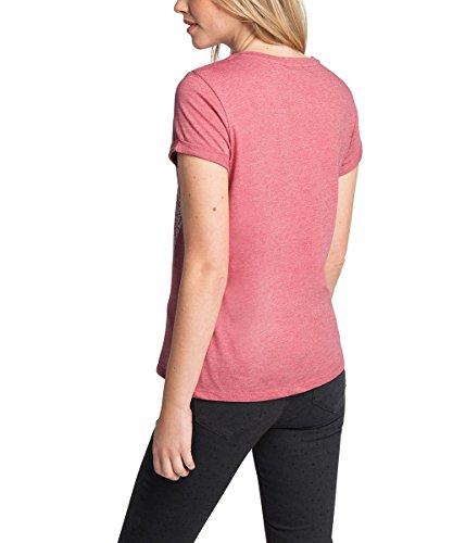 edc by ESPRIT Damen T-Shirt Rot (BERRY RED 625)