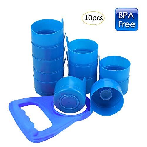 Pueri 10 Stück Wasserspender Flasche Deckel Wiederverwendbar Anti Splash Flasche Kappen mit Wasserflaschengriff