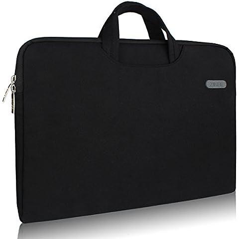 Zikee Funda para portátil 11.6 pulgadas con asa bolsillo negro Estuche protectora, compatible con Acer Chromebook 11/Asus/Dell/HP Stream 11.6/Lenovo IdeaPad 100s/Samsung Chromebook 2/3