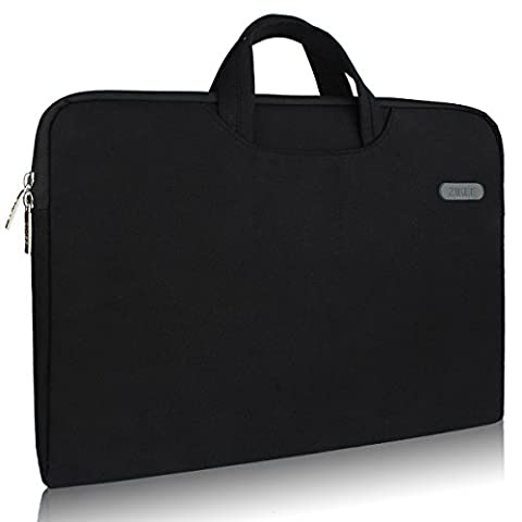 Zikee 13-13.3 Inch Water-Resistant 360°Protective Slim Briefcase Laptop Sleeve with Handle Carrying Case