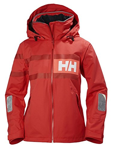 Helly Hansen W Salt Power, Chaqueta para Mujer, Rojo, Medium (Tamaño del...