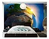 YUANLINGWEI Space Planet Earth Natur 3D Wandbild Geeignet Für Wohnzimmer Sofa Hintergrund Wohnkultur