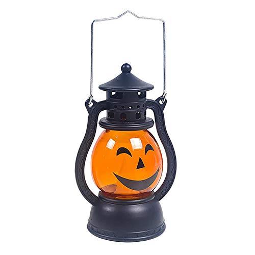 TTYAC 2019 Neue Halloween Vintage Laterne Party Hängen Dekor LED Licht Lampe Tragbare Nachtlicht Kreative atmosphäre nachtlicht, B, China, 6 Zoll (2019 Ideen Halloween-kostüm Gute)