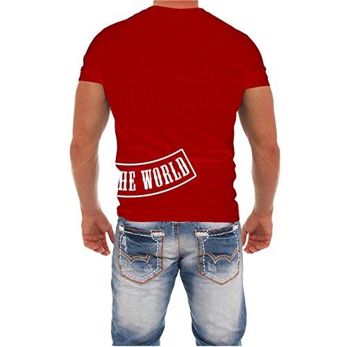 Männer und Herren T-Shirt Tattoos my life my pain mit Rückendruck Rot