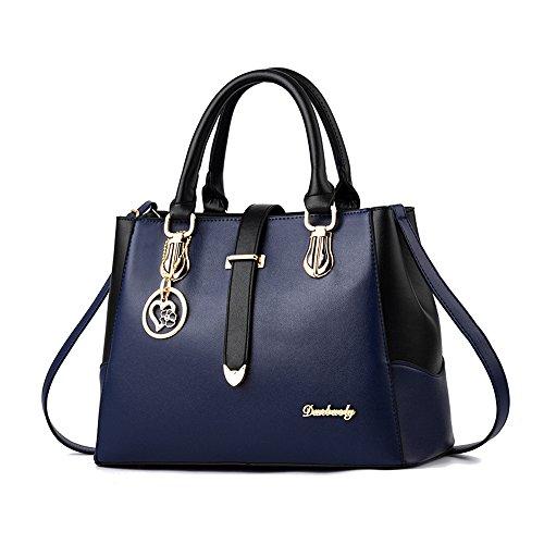 imbettuy neue schwarze und weiße Mode-Stil Handtasche lässig Umhängetasche Querkörperarbeit Taschengeldbeutel für Damen