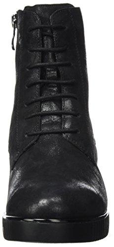 Caprice 25201, Bottes Rangers Femme Noir (Black Suede)