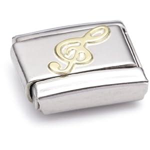 Nomination Composable Classic MUSIC Edelstahl und 18K-Gold (Violinschlussel) 030117