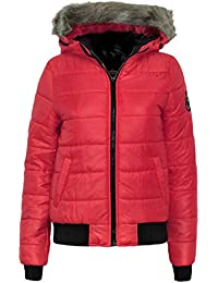 Candy Floss New Ladies Ladies Badge Padded Bubble Puffer Hooded Womens Jacket Coat Top Outerwear Faux Fur