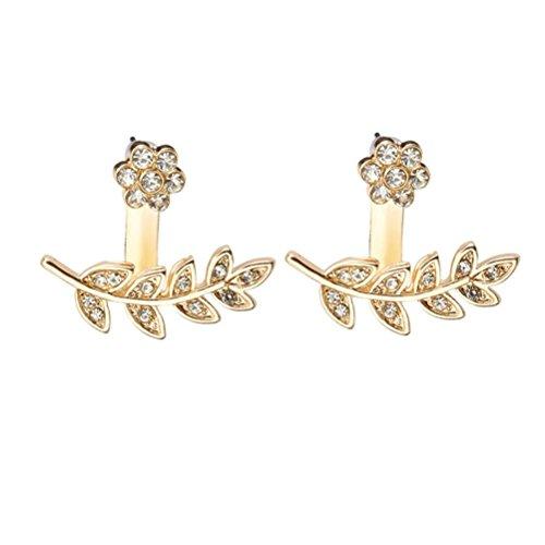 Damen Elegant Ohrringe Ohrstecke Ohrschmuck DOLDOA Ohrhänger Earring Creolen Ohrclips Ohrklemme Schmuck Geburtstags Geschenk für Frauen Mädchen Freundin Mutter Tochter (Gold - 1) -