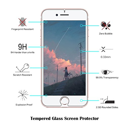 iPhone 7 custodia [with free tempered glass Screen Protector], BLOSSOM01 ultra sottile in gel morbido TPU silicone cover con cover per iPhone 7, Donuts, iPhone 7 Kitten