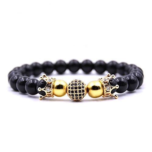 Irugh palla set micro nero zircone braccialetto rame gioielli commercio estero vendita calda stile braccialetto di perline a mano gioielli compleanno gif t