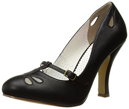 Pin Up Couture SMITTEN-20 Blk Faux Leather