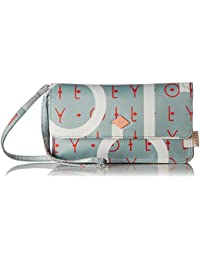 Oilily - Groovy Letters Clutch Mhf, Carteras de mano con asa Mujer, Azul (Light Blue), 1x12x22 cm (B x H T)